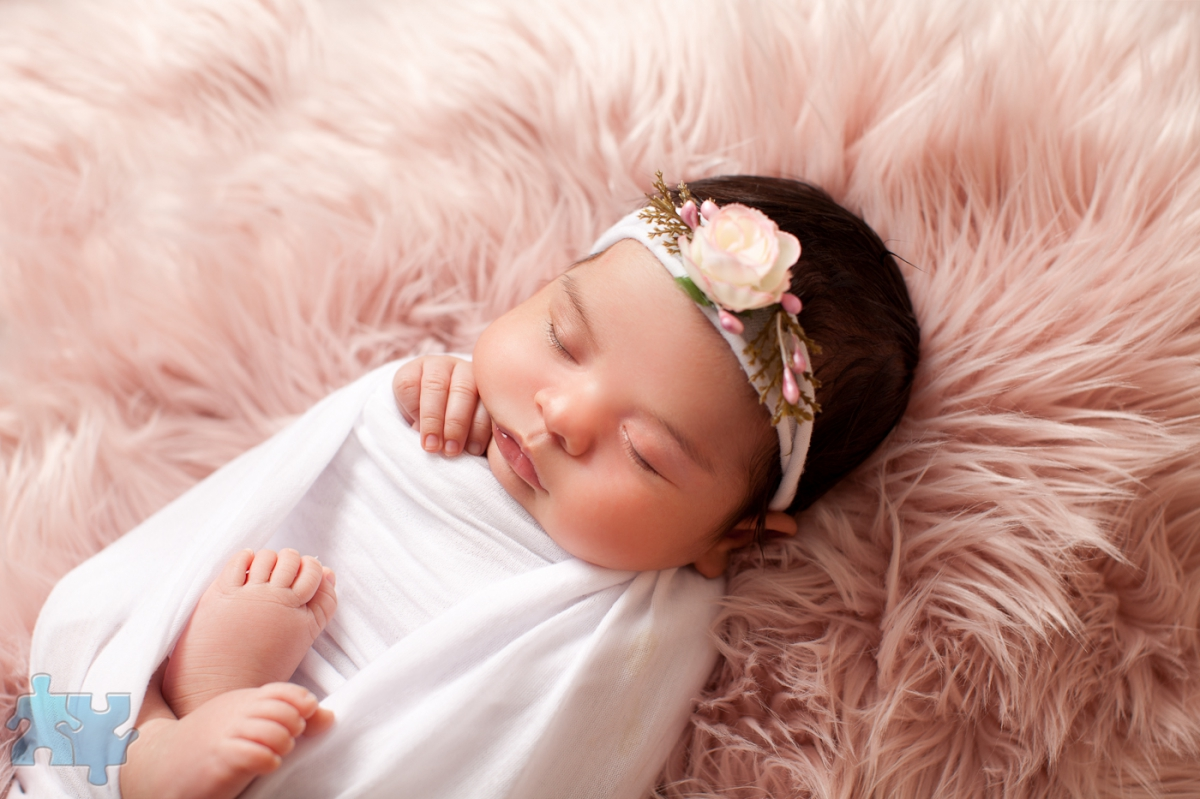 Mississauga newborn photography studio portraits of baby girl 28 days old b n lifestyle imagery
