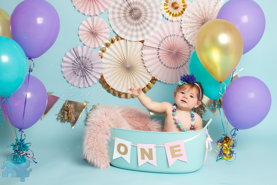 Mississauga Cakesmash Photography First Birthday Studio Portraits Of Baby Girl Posted In And