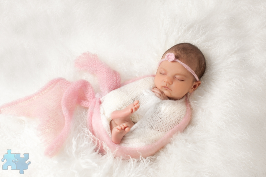 Mississauga newborn photography studio portraits of baby girl 23 days old